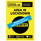 Area in Lockdown Sign - PVC A3