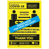 Social Distancing Sticker - Vinyl 250 x 350mm