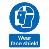 Wear Face Shield Rigid PVC Sign A3 420 x 297mm