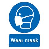 Wear Mask Rigid PVC Sign A3 420 x 297mm