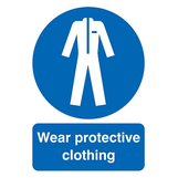 Wear Protective Clothing Rigid PVC Sign A3 420 x 297mm